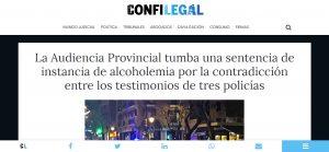 La Audiencia Provincial tumba una sentencia de instancia de alcoholemia por la contradicción entre los testimonios de tres policías