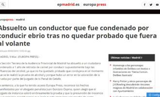 Juan Gonzalo Ospina consigue la absolución de un conductor que fue condenado por conducir ebrio tras no quedar probado que fuera al volante