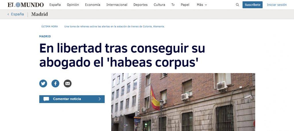 habeas corpus ospina