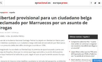 Libertad provisional para un ciudadano belga recamado por Marruecos por un asunto de drogas