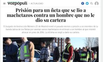 Prisión para un ñeta que se lió a machetazos contra un hombre que no le dio su cartera