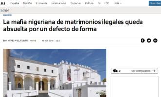 La mafia nigeriana de matrimonios ilegales queda absuelta por un defecto de forma