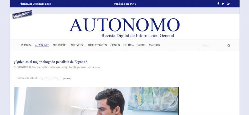 Autonomo el mejor abogado penalista de España