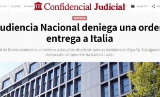 La Audiencia Nacional deniega una orden de entrega a Italia