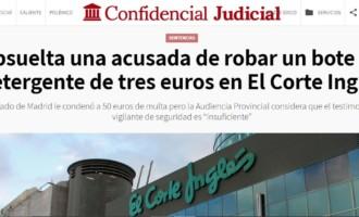 Absuelta una acusada de robar un bote de detergente de tres euros en El Corte Inglés