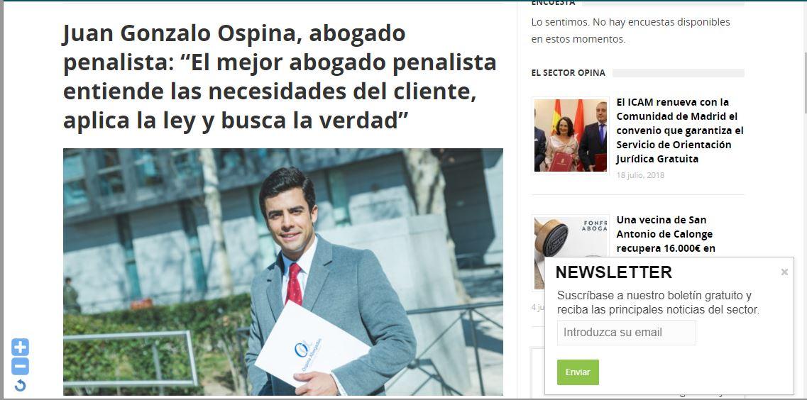 derecho news ospina