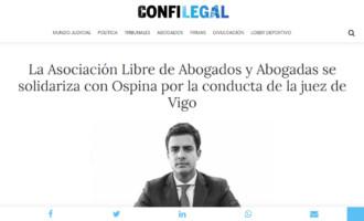 La Asociación Libre de Abogados y Abogadas se solidariza con Ospina por la conducta de la juez de Vigo