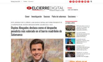 Ospina Abogados destaca como el despacho penalista más valorado en el barrio madrileño de Salamanca