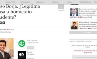 Columnas Jurídicas: El Caso Borja, ¿Legítima defensa u homicidio imprudente?