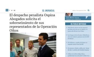 Ospina Abogados solicita el sobreseimiento de sus representados de la Operación Oikos