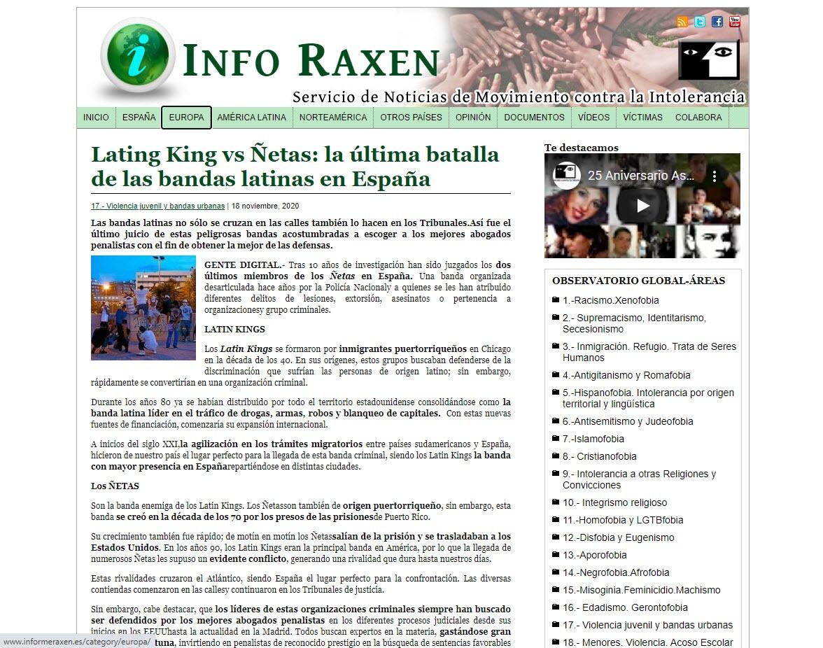 Latin King Vs. Ñetas: La última batalla de las bandas latinas en España