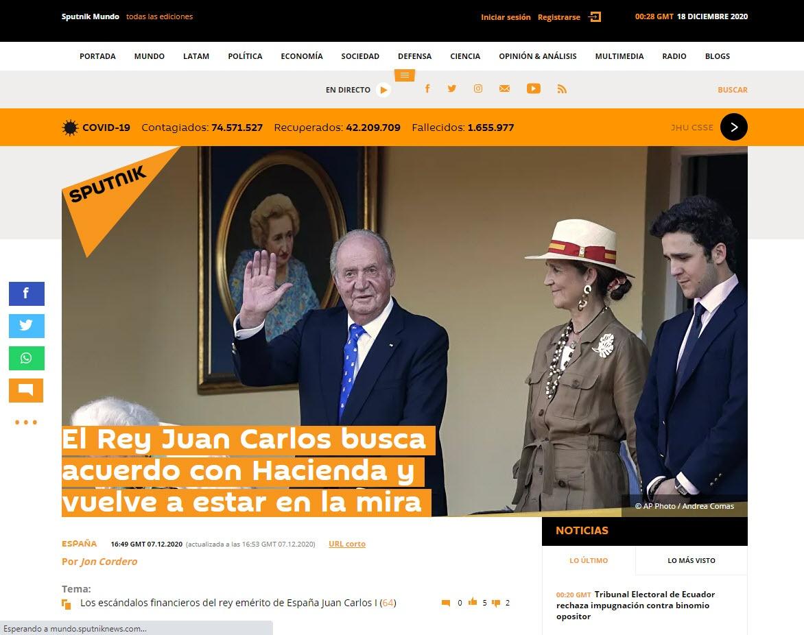 El Rey Juan Carlos busca acuerdo con Hacienda y vuelve a estar en la mira