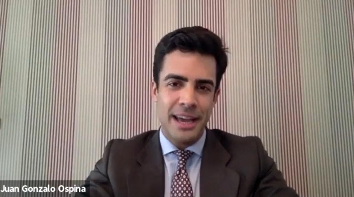 Juan Gonzalo Ospina en la I Jornada Internacional Jóvenes Investigadores